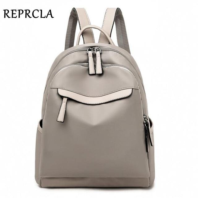 REPRCLA 2019 Fashion Waterproof Backpack Women Travel Bagpack High Quality School Shoulder Bags for Teenage Girls mochila 1