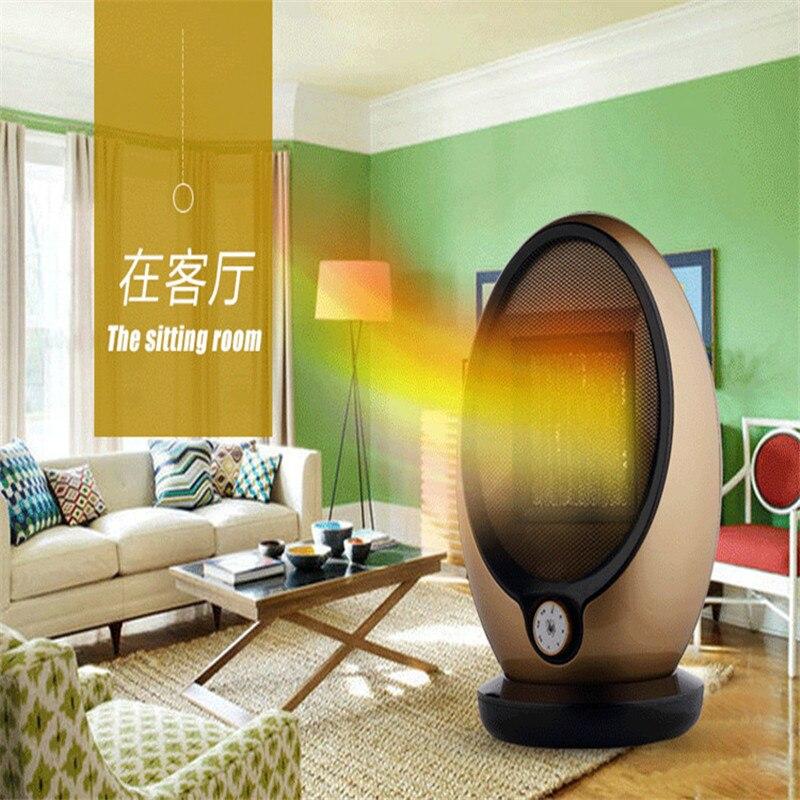 Nouveau chauffage électrique domestique PTC réchauffeur en céramique réchauffeur d'hiver secouant la tête coussin électrique 0 rayonnement