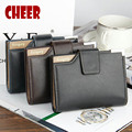 2017 Hot sale Fashion wallet pu leather Men Short Wallet men card wallet men luxury brand wallets 3 Fold Male Purse Cards Holder