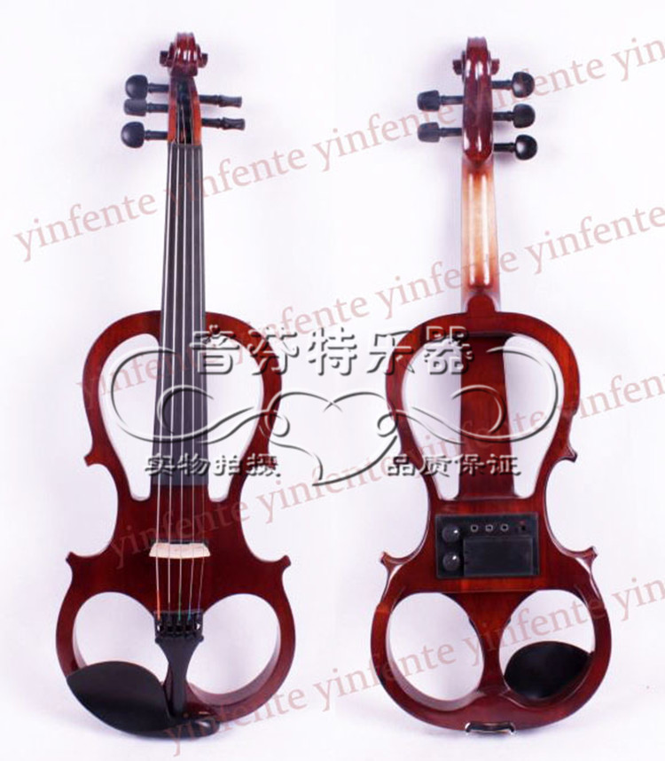 5 string electro-acoustic violin electronic violin imitation mahogany full frame solid wood handmade new solid maple wood brown acoustic violin violino 4 4 electric violin case bow included