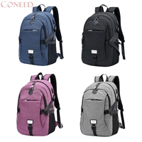 CONEED Anti-theft Laptop Backpack Loaged Business Bags with USB Charging Port Water Resistant Bookbag for College Travel