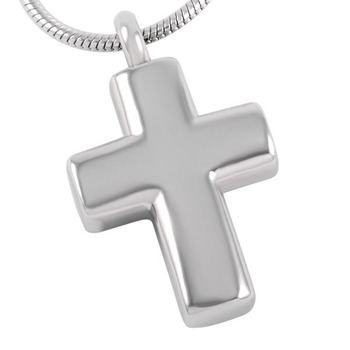 CMJ8391 10pcs/lot Round Cut Polished Hot Sell Cross Pendant  Snake Chain Memorial Urn Necklace  Memory Jewelry