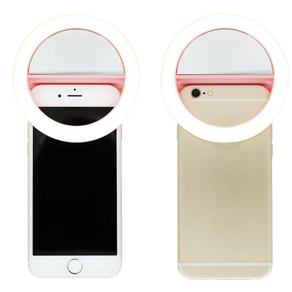 Universal Sunlight Warm light 4500 7000K LED Photography Flash Light Up Selfie Luminous Lamp Night Phone