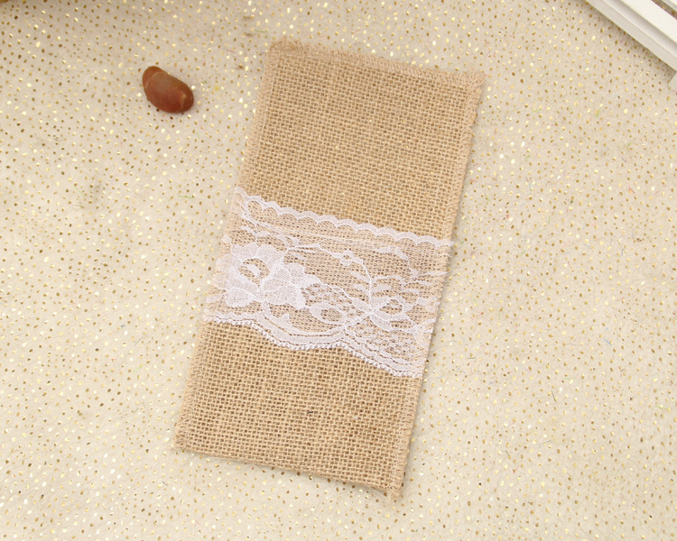 Event & Party Party Diy Decorations 20pcs 21 *10cm Jute Tableware Pouch Pocket Burlap Knife And Fork Bag For Rustic Wedding Decoration Home Table Decor