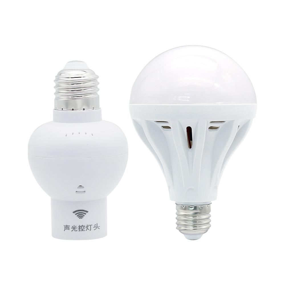 Sound Voice Control Sensor Switch Lamp Holder E27 Socket Adapter 220V Light Bulb For Corridor Aisle