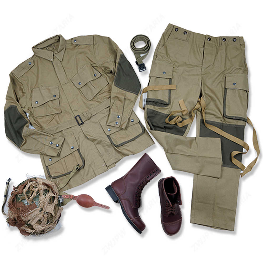 WW2 US ARMY M42 101 AIR FORCE Paratroopers UNIFORM AND M1