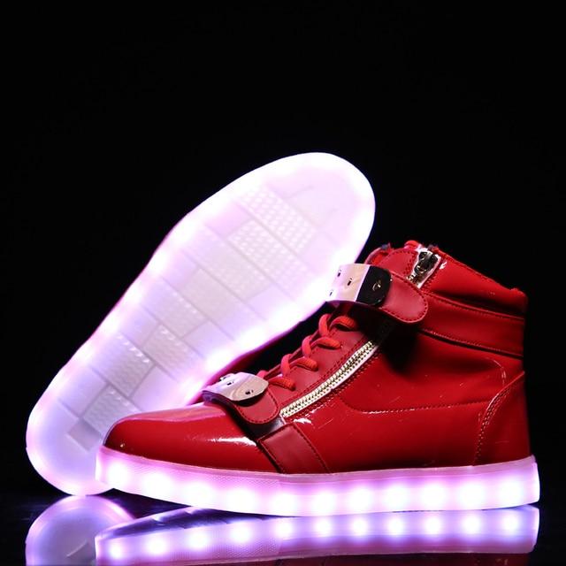 f49c43f9e0b41e Warm wie home USB Ladegerät Glowing Turnschuhe Led Kinder Beleuchtung Schuhe  Jungen Mädchen beleuchtet Leucht Sneaker