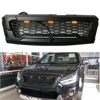 LED MATTE BLACK MODIFIED GRILLE GRILLS FRONT BUMPER MESH GRILL TRIMS COVER MASK FIT FOR ISUZU D MAX DMAX 2015 2018 PICKUP CAR