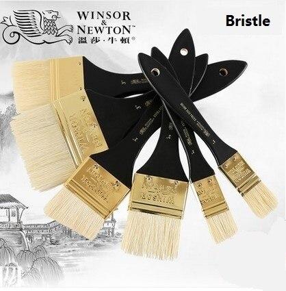 WINSOR & NEWTON soies huile Extra fine et acrylique pinceaux peintre artiste spécial pinceau manche en bois