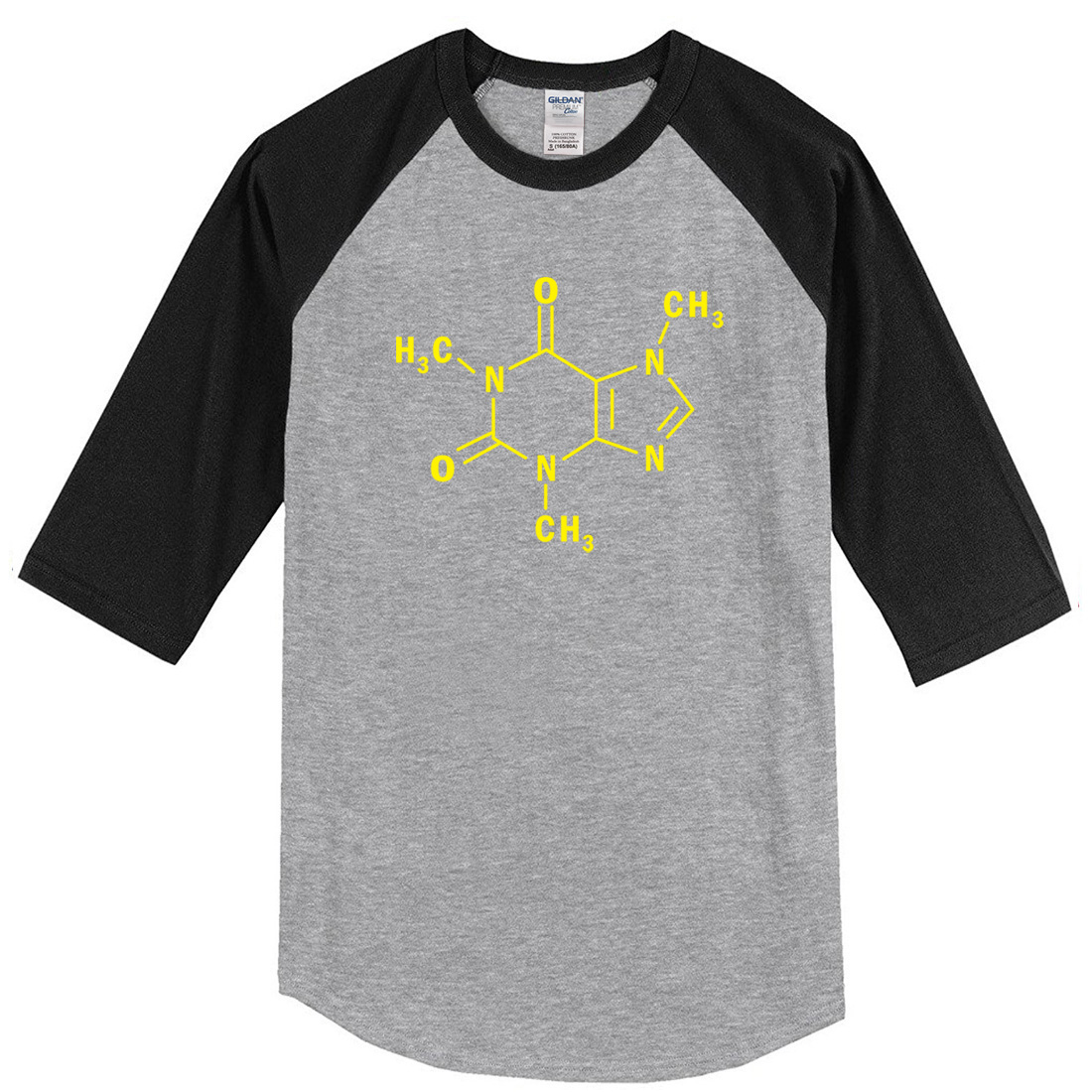 2018 T-shirt summer The Big Bang Theory fashion mens T-shirts Caffeine Molecular Formula Sheldon crossfit t shirt top harajuku