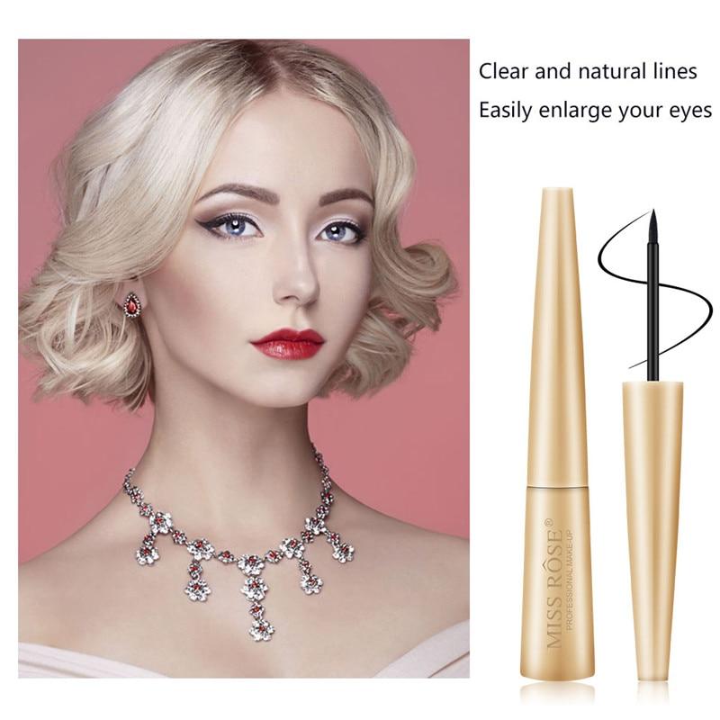 Promotion Women Black Liquid Eyeliner Pencil Waterproof Quick Dry Pen Matte Long lasting Eye Liner Smooth Beauty Make Up Tools in Eyeliner from Beauty Health