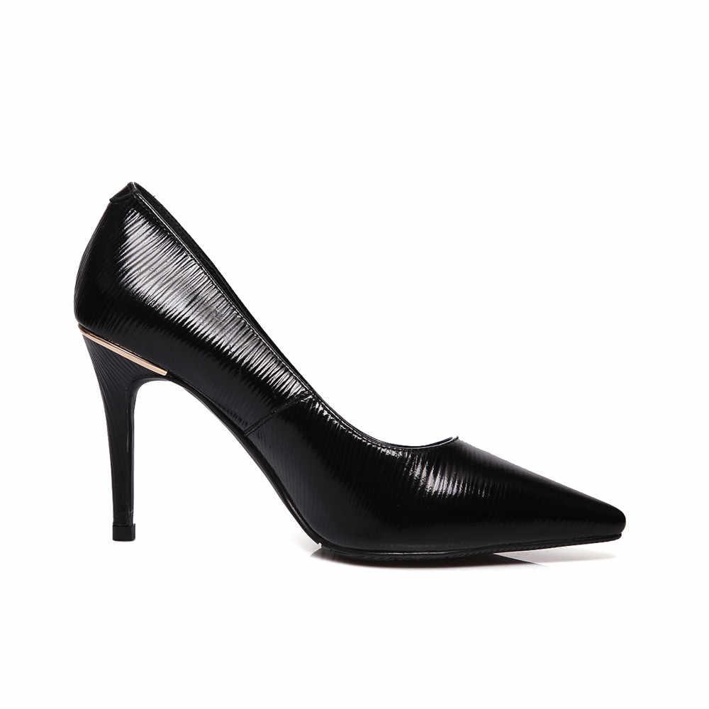 ASUMER אופנה אביב סתיו חדש מגיע נעלי אישה הבוהן מחודדת אלגנטי חתונה נעלי נשים עור אמיתי נעלי עקבים גבוהים