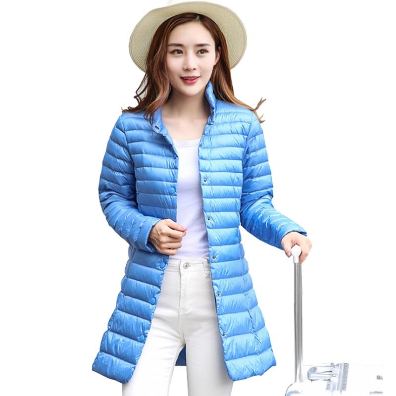 Women Winter Coat 2018 New Ultra Light 90% White Duck Down Jackets Single Breasted Slim Portable Female Winter Jacket Down Coat