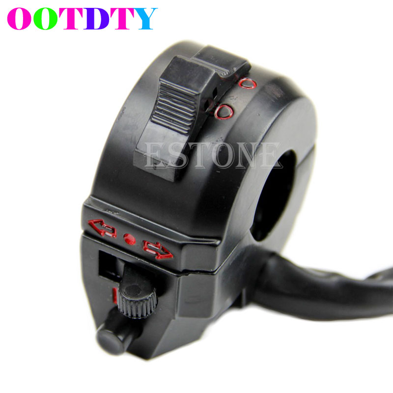 Motorcycle 7/8 Handlebar Control Horn Turn Signal Light Hi/Lo Beam Left Switch APR14_35 js 08a 8 x 1 signal control diseqc switch silver