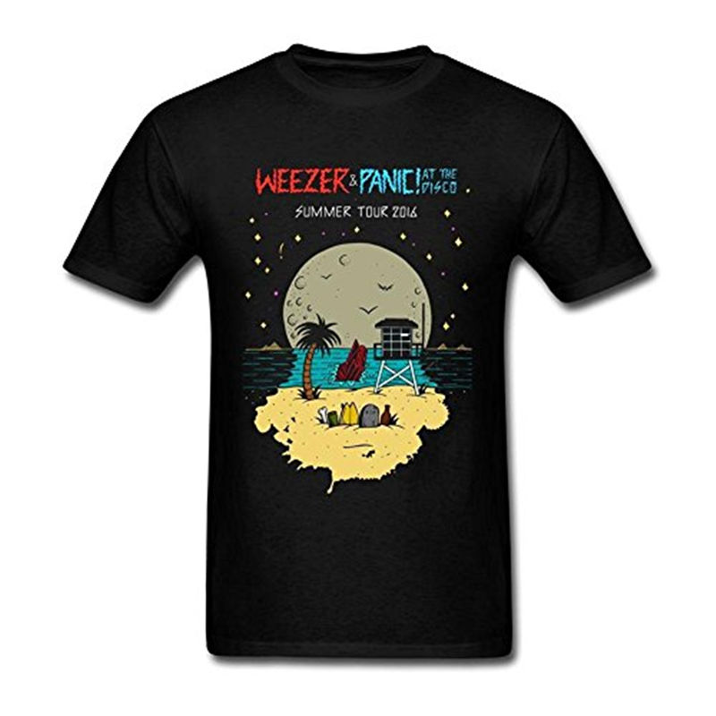 Printed T Shirts Hipster Tee Cotton Crew Neck MenS Panic At The Disco Short-Sleeve Shirts For Men