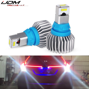 iJDM Super Bright CSP SMD W16W LED Canbus Error Free 912 921 906 T15 LED Reverse Backup Lights,automobiles 6000K White 12V LED