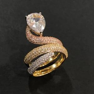 Image 5 - GODKI Luxury Engagement Wedding Snake Winding Wrap Ring for Women Bridal Cubic Zircon Dubai Accessories Finger Ring Jewelry 2019