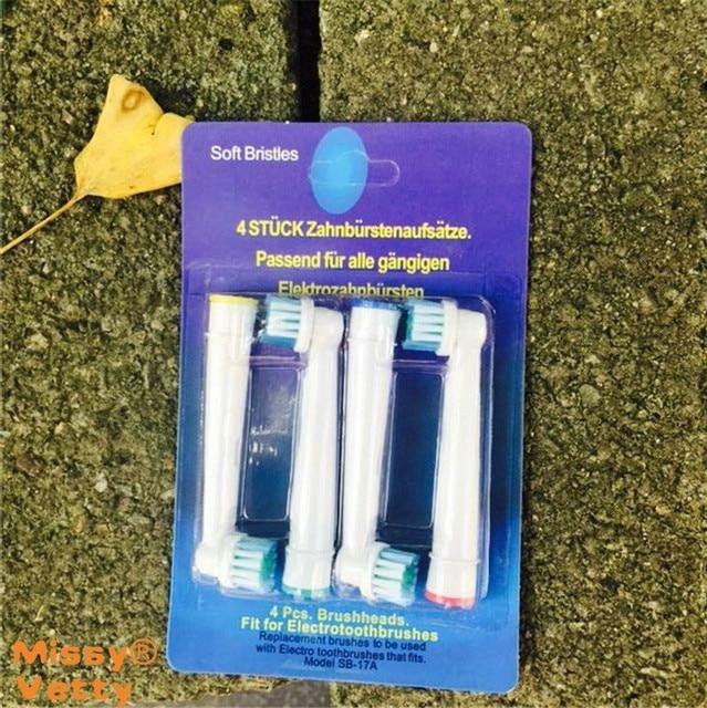 Новый электрическая зубная щетка головы SB-17A нейтральный головка зубной щетки применяются D12.013