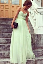 Free Shipping Glamorous Discount Best Sale Sheath Sweetheart Chiffon Bohemian Bridesmaid Dress BD035