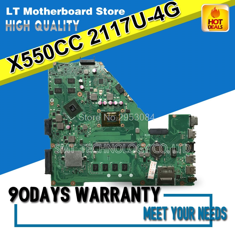 For ASUS X550CC X550CA R510C Laptop Motherboard With 2117U 4GB Memory REV 2.0 Mainboard Fully Tested Free Shipping S-4 цена