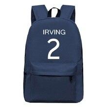 Kyrie Irving Canvas Backpack Large Capacity Basket Ball Backpacks Men Women RuckSack Boy Girl School Bag Mochila Escolar