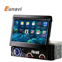Eunavi 7Inch 1 din car dvd Player Android 4.4.4  Motorized Detachable 1080P Video HD Multi-Touch Screen automotivo car stereo