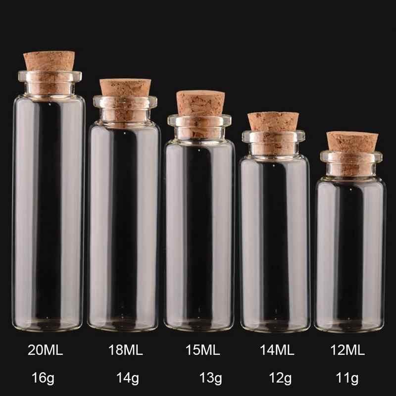 1 pcs ราคาถูก Mini ขวดคอนเทนเนอร์ตกแต่งยอดนิยมขวดข้อความ DIY Mason Jar ขนาดเล็ก Cork Stopper ตกแต่ง 5 ~ 20 ml