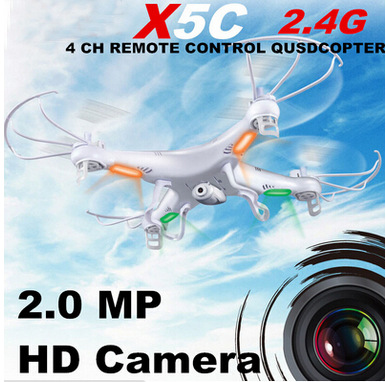 Syma X5C Explorers RC Quadcopter 2,4G 4CH 6 axis gyro Fernbedienung RC Hubschrauber UFO Mit HD Kamera RTF (Kleine Paket)