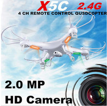 Syma X5C Penjelajah RC Quadcopter 2.4G 4CH 6Axis Gyro Remote Control RC Helicopter UFO dengan HD Camera RTF (Paket Kecil)(China)