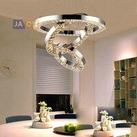 Led 현대 스테인레스 스틸 크리스탈 크롬 샹들리에 조명 lamparas 드 techo 서스펜션 luminaire lampen 휴게실 침실