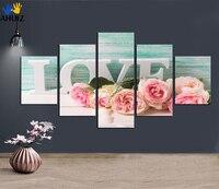 الحب إلكتروني زهرة الرومانسية قماش اللوحة صورة الزفاف الأبيض فستان الزفاف متجر الزينة الفن خلفية الجدار ملصق FA230