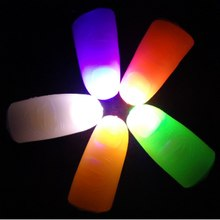 5 Piece Hot Classic Toys Fantastic Glow Toys Funny Novelty LED Light Flashing Fingers Stage Magic Trick Props Children Gifts