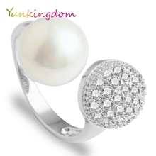 Yunkingdom new synthesis pearl wedding rings for women fine jewelry rings
