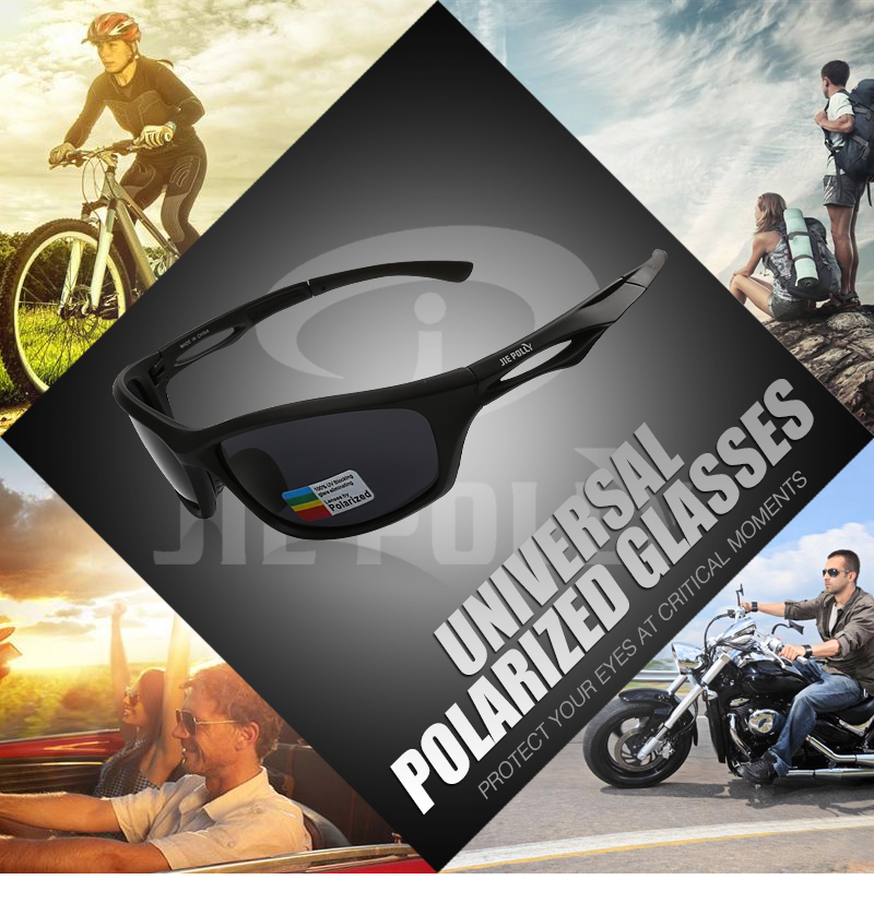 Jiepolly Polarized Cycling Sports Sunglasses Fishing Eyewear Ultralight Outdoor Glasses for MTB Cycling Golfing hiking Driving