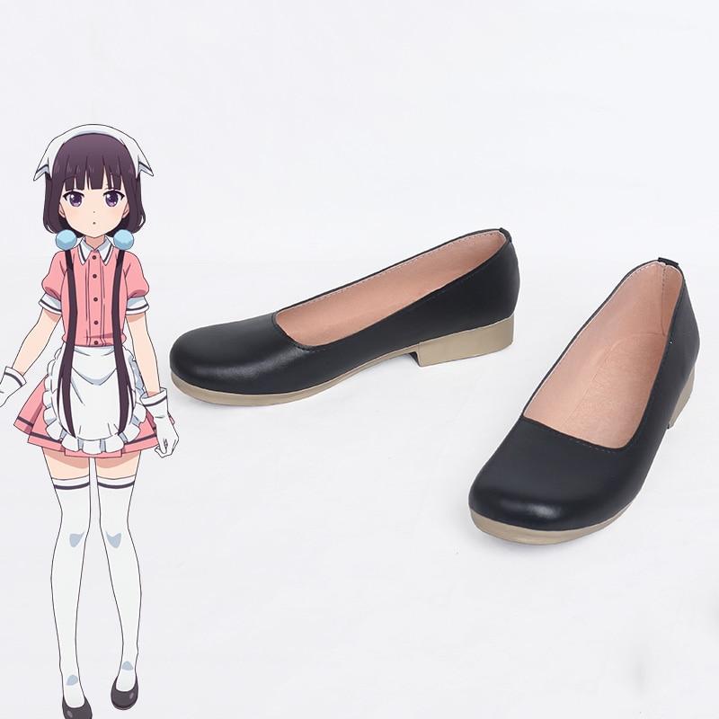 706cee54dd Anime Blend S Cosplay Shoes Hinata Kaho/Sakuranomiya Maika/Amano  Miu/Hoshikawa Mafuyu/Kanzaki Hideri Halloween Black Shoes New C