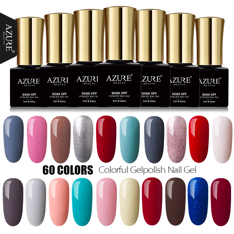 AZURE BEAUTY 7ml Gel Polish Nagellak Manicure Azure Nail Gel Polish Losweken Emaille Led UV Gellak Azure Nail Gel Vernis