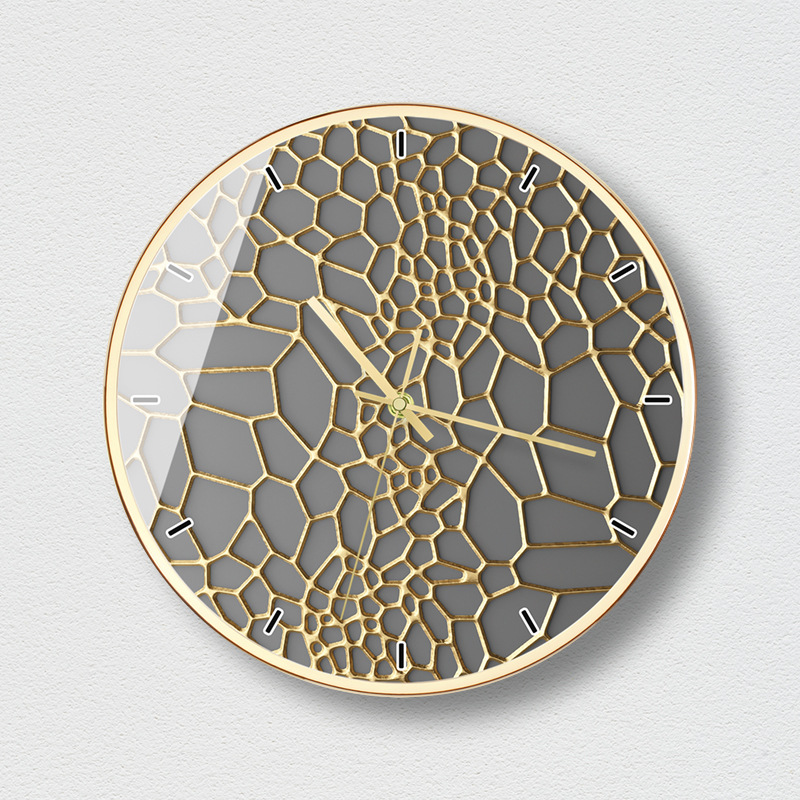 Living Room Gold Wall Clock Creative Nordic Personality Silent Watches Gold Black Unique Gifts Home Decoration Accessories C5T78