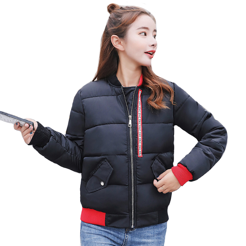New Arrival 2019 Winter Women   Jacket   Stand Collar Short Padded Autumn   Basic     Jacket   3XL 4XL Outwear Coat Veste Femme