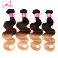 Fabc Hair Ombre Brazilian Body Wave Hair Bundles T1B 4 27 3 Tone Blonde Remy Hair
