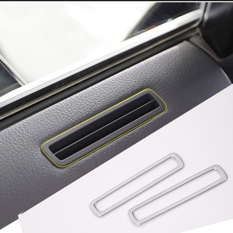 New Arrivals 2pcs Silver ABS Chrome Door Air Conditioning Vent Frame Trim Stickers For <font><b>Lexus</b></font> <font><b>RX200t</b></font> 2016 Car Styling Accessories image