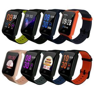 Image 1 - 2019 B11 pulsera inteligente 9,9mm cuerpo Fitness reloj impermeable monitoreo Frecuencia Cardíaca sueño reloj inteligente para Android e IOS8.0