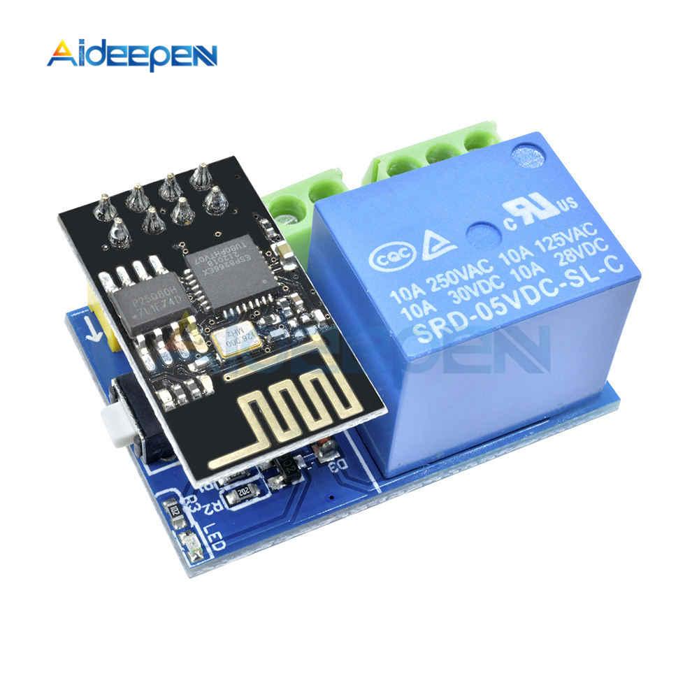 ESP8266 moduł przekaźnika 5V 1CH ESP-01/01 S moduł WIFI dla arduino uno R3 Mega2560 Nano Raspberry Pi inteligentny dom bezprzewodowa tablica przekaźnikowa