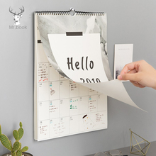 Hello 2019 Ins Nordic Style Calendar To Do List Agenda Wall Hanging Calendar Daily Planner Organizer for School Office Supply