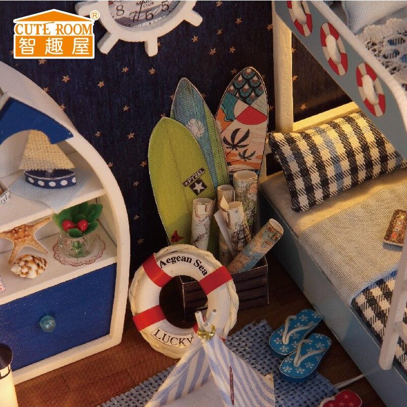 Namještaj DIY Kućica za lutke Wodden Miniatura Kućice za lutke - Lutke i pribor - Foto 6