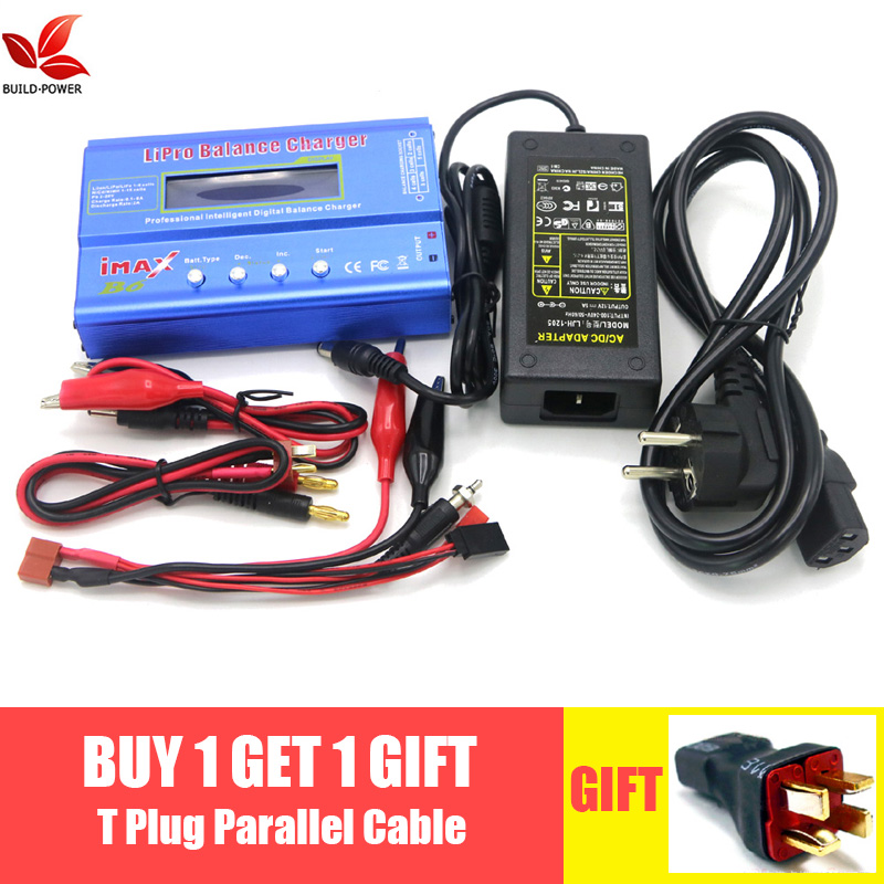 Imax b6 digital rc lipo nimh bateria balance carregador + ac power 12v 5a adaptador gota frete grátis
