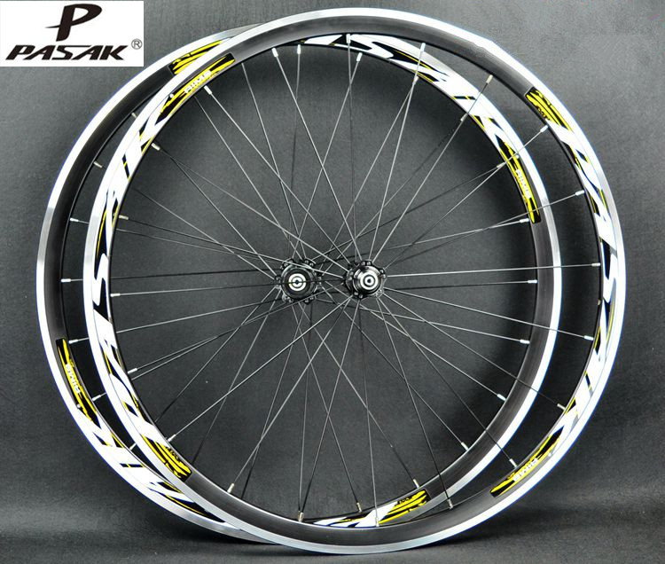 PASAK Road Bike Bicycle 700C Sealed Bearing Ultra Light Wheels Wheelset Rim 11 Speed Support 1650g