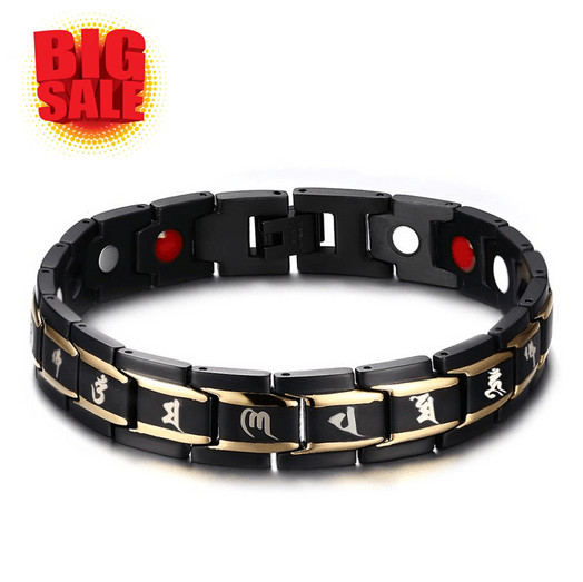 Black Men S Bracelet Health Magnets Negative Ions Natural Stone Germanium Anium Religious Jewelry Gift For Grandpa