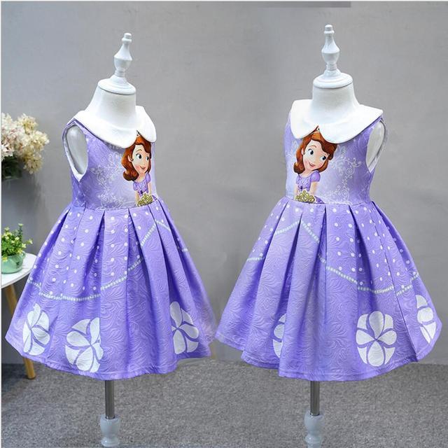 aa476d0c18 Buena calidad 2019 nuevo de verano de las niñas elsa vestidos de princesa  vestido de traje