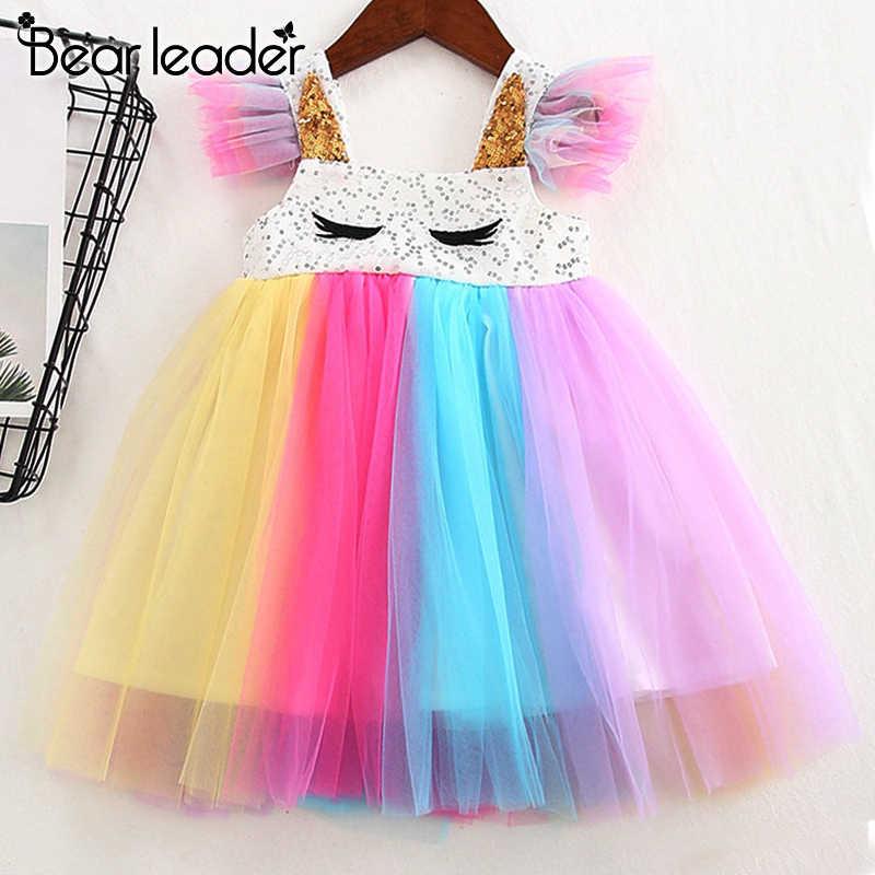 Bear leader/платья для девочек; коллекция 2019 года; платье принцессы; яркое платье; модное платье для девочек с украшением в виде бабочки; детская одежда; платье