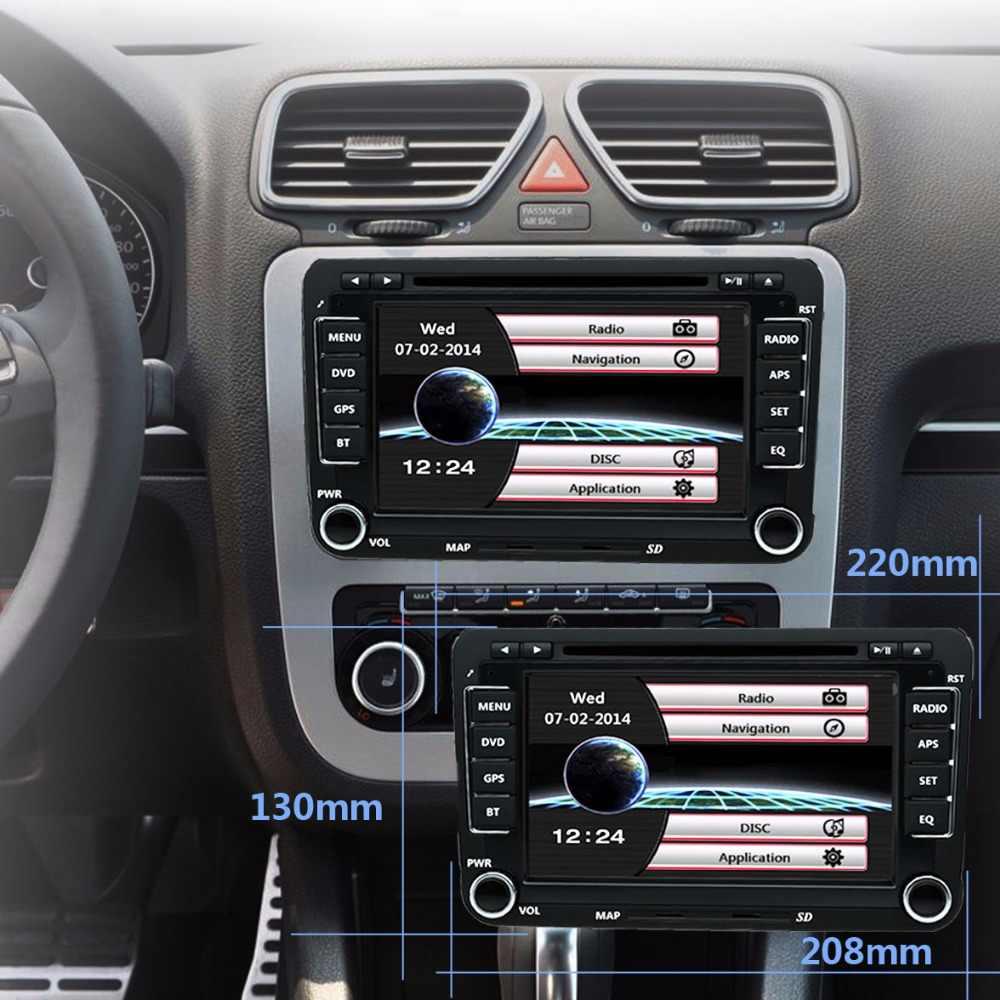 """BYNCG 7 """"カーマルチメディアプレーヤー 2Din DVD ゴルフ/ポロ/ティグアン/パサート/b7/b6 /シート/レオン/シュコダ/オクタヴィアラジオ GPS 地図リアビューミラーカメラ"""